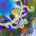 Reflections of the Divine - Om Symbol Art